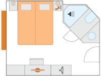 2-Bett-Außenkabine, A 14,5 m²