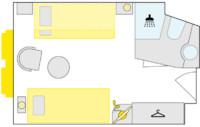 2-Bett-Außenkabine, S 14,5 m²