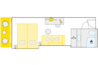 2-Bett-Außenkabine, B 21 m²