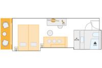 2-Bett-Außenkabine, C 14,5 m²